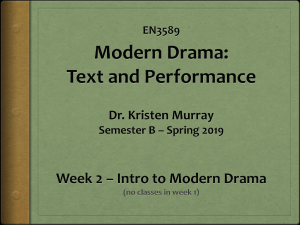 week 2 en3589 intro to modern drama