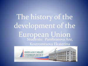 The history of the development of the European