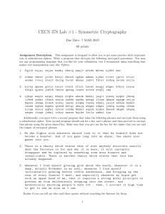 Lab 1 - Symmetric Cryptography
