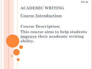Basic Academic Writing