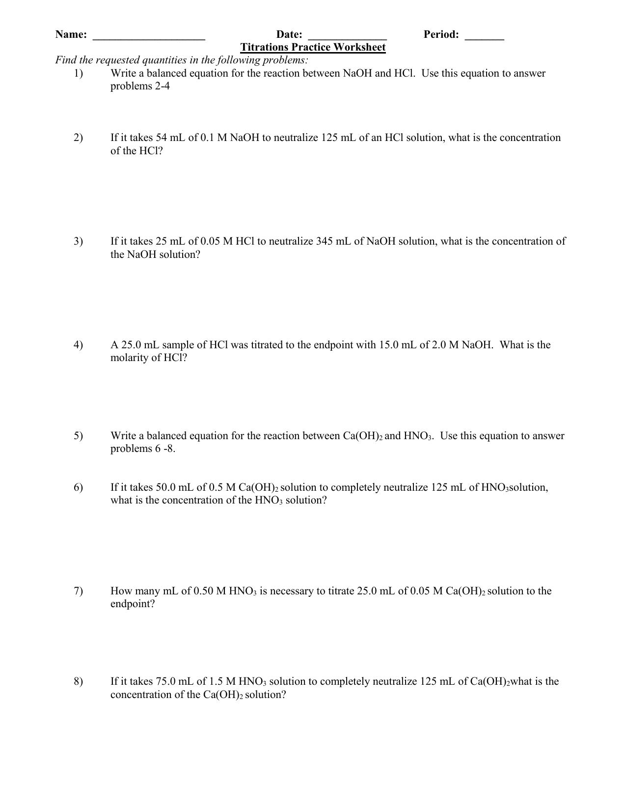 Bestseller: Solution Concentration Worksheet Practice ...