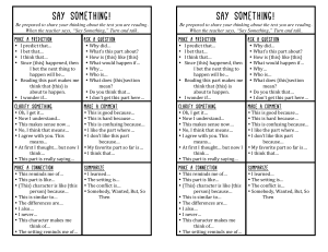 Say Something Reading Strategy (1)