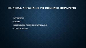 CLINICAL SPECTRUM OF HEPATITIS