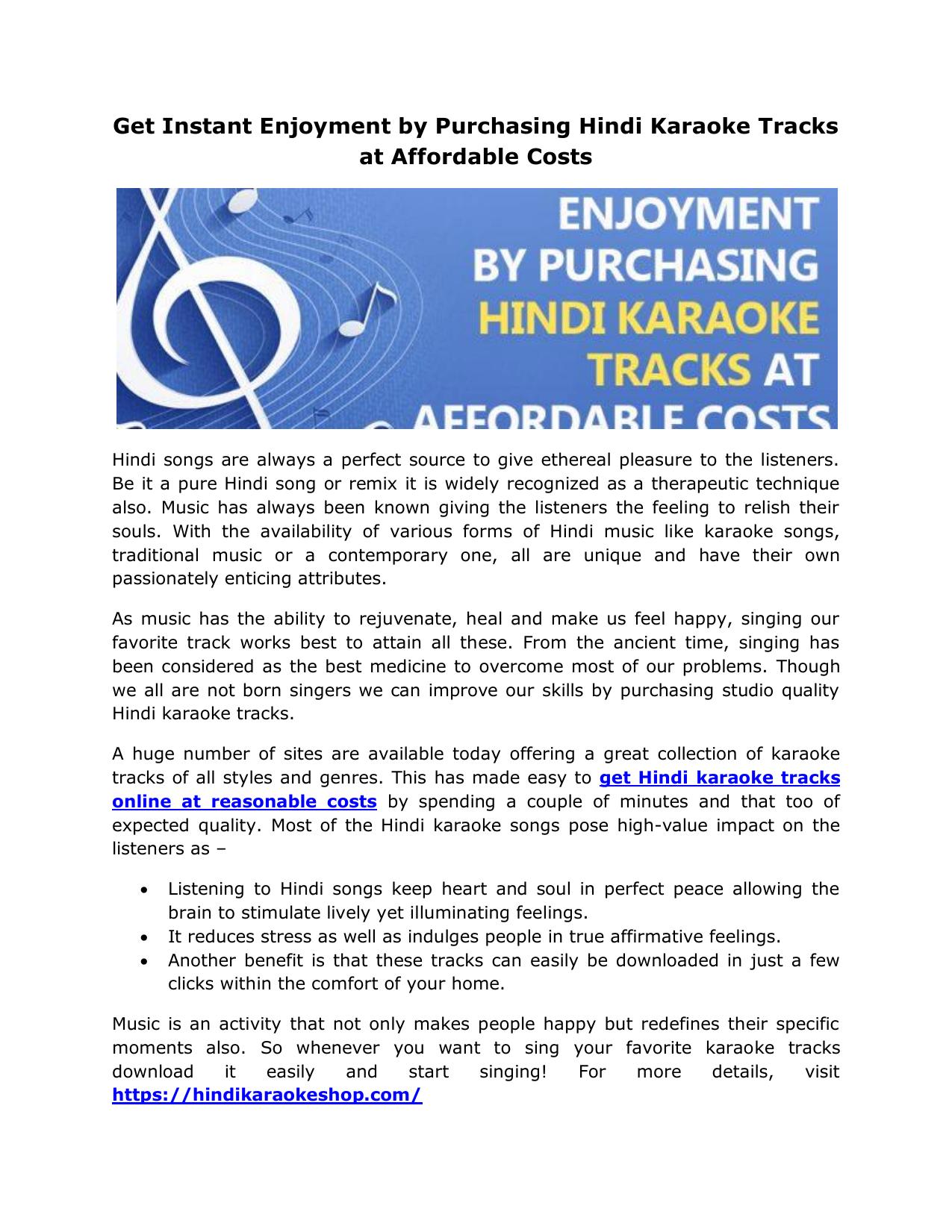 Get Instant Enjoyment By Purchasing Hindi Karaoke Tracks At Affordable Costs Kaun tujhe singing lesson bollywood singing lessons/tutorials by mayoor. studylib