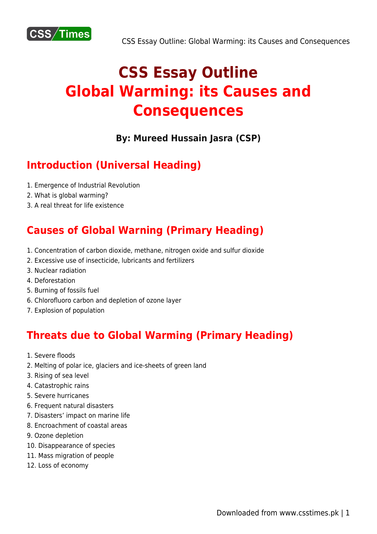 Phd thesis on global warming