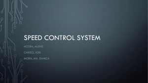 Speed control system