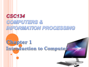 Chapter 1 - Introduction to Computer (2)