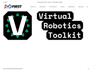 Virtual Robotics Toolkit – CanCode – FIRST Robotics Canada