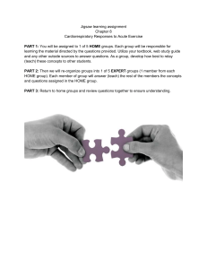 Jigsaw learning assignment