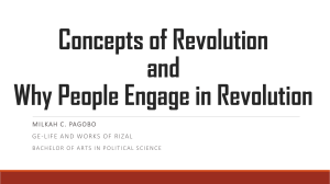 Concepts of revolution and why people engage in revolution