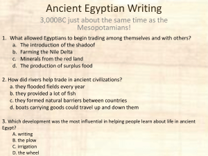 ancient egypt writing presentation