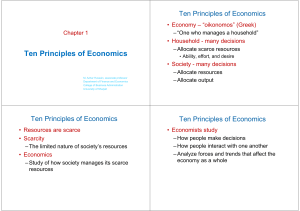 Ch 1. Slides principles of economics Mankiw