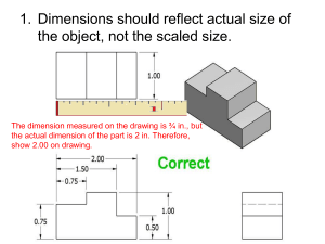 Multi View Dimensioning Rules - Notes