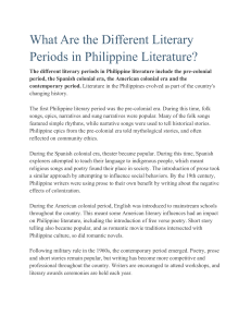 What Are the Different Literary Periods in Philippine Literature