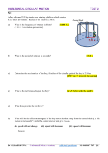 Circular Motion Test 2-Horizontal Circular Motion (1)