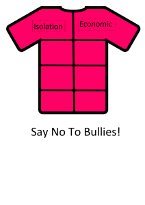 Anti-bullying Poster Design - Pink Shirt