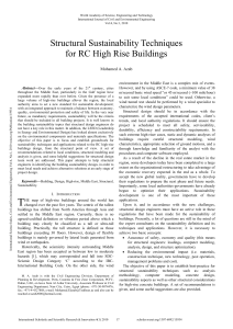 Structural-Sustainability-Techniques-for-RC-High-Rise-Buildings