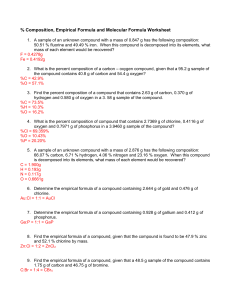 comp empirical and molecular worksheet -answer key