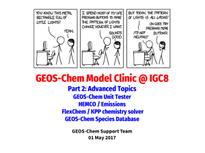 GEOS-Chem Model Clinic @ IGC8 Part 2