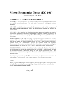 Micro Economics Notes (EC101)-1
