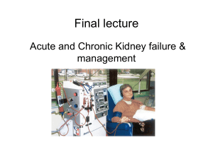 Acute and Chronic Kidney Failure and Management from Ignatavicius Medical-Surgical Nursing