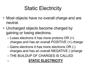 Static Electricity Notes 10-5