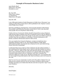Persuasive Business Letter for Students