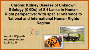 Haman Right Perspective of Chronic Kidney Disease of Unknown Aetiology in Sri Lanka