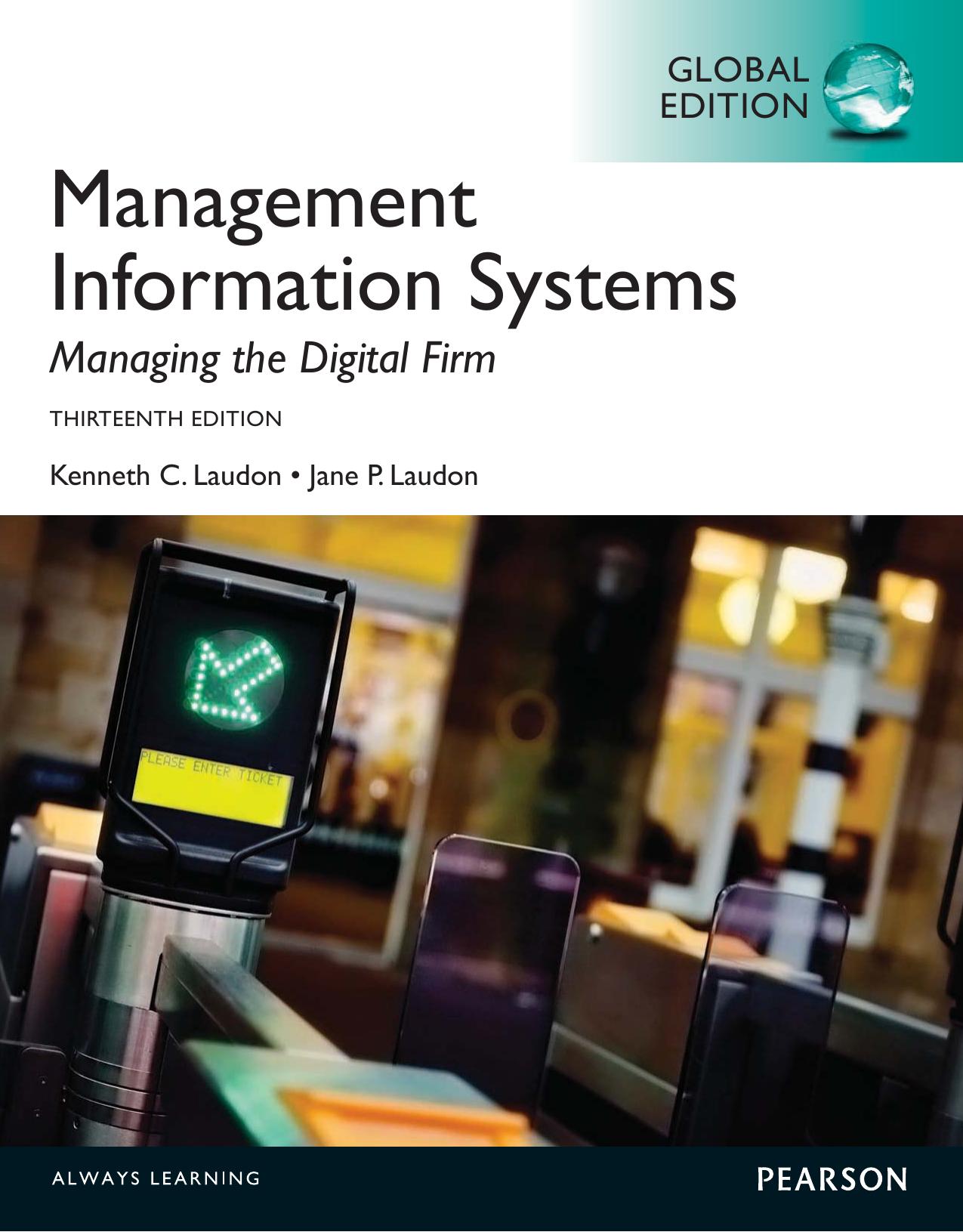 Kenneth C Laudon,Jane P  Laudon - Management Information