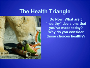 Health Triangle Powerpoint