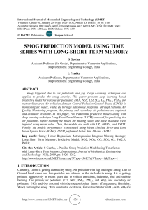 SMOG PREDICTION MODEL USING TIME SERIES WITH LONG-SHORT TERM MEMORY