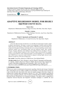 ADAPTIVE REGRESSION MODEL FOR HIGHLY SKEWED COUNT DATA