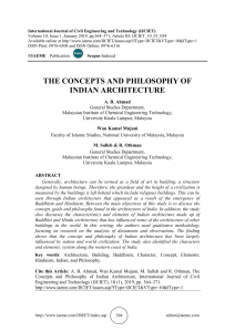 THE CONCEPTS AND PHILOSOPHY OF INDIAN ARCHITECTURE