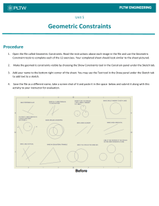 Activity 5.2 Geometric constraints