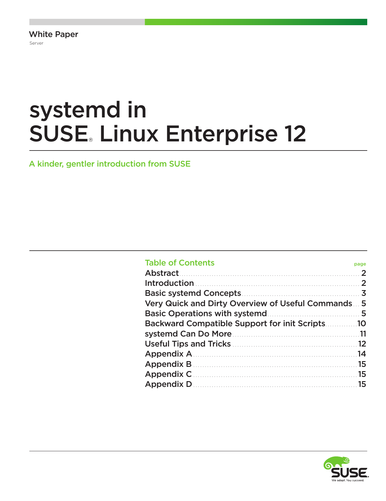 systemd in suse linux enterprise 12 white paper