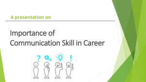 Final Importance of Communication Skill in Career