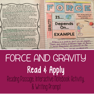 ForceandGravityReadingComprehensionInteractiveNotebook