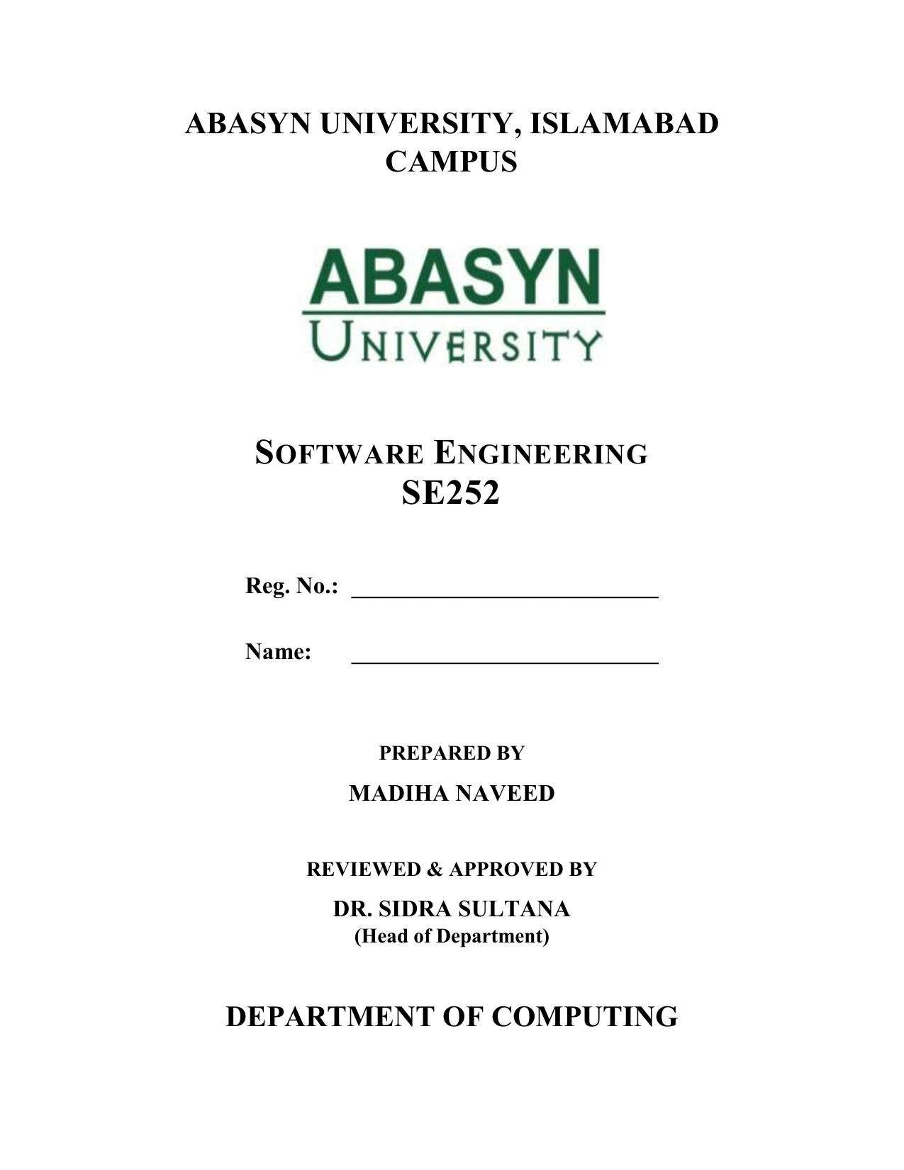 Se252 Se Lab Manual V 0 1