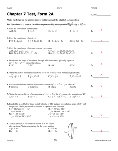 Ch7 Test 2A ANSWERS