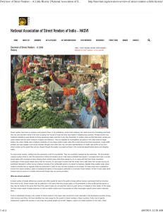 Overview of Street Vendors – A Little History   National Association of Street Vendors of India - NASVI