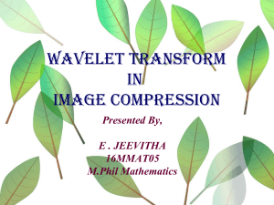 wavelettransforminimagecompression-170111054205