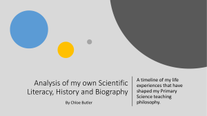 Analysis of my own Scientific Literacy, History