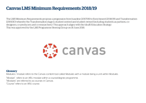 Canvas LMS minimum requirements