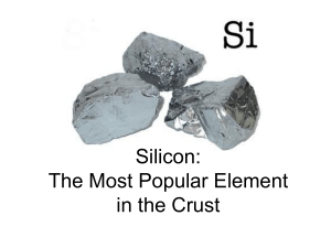 Earth Science Silicate Minerals Presentation