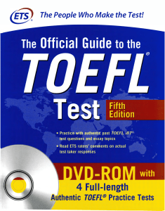 018 5- The Official Guide to the TOEFL Test 2018, 5th -747p