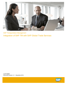 SAP Transportation Management Integratio