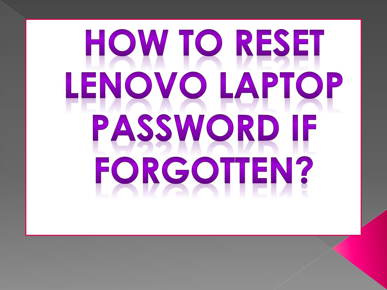 lenovo laptop password not working