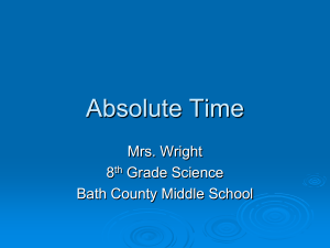Absolute Time ppt