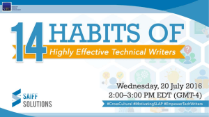 14 habits of highly effective technical writers