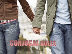 conjugal roles introduction